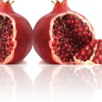 The juice of the pomegranate